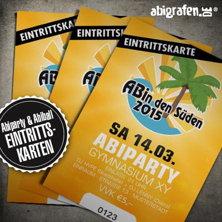 Abiball Eintrittskarten drucken mit Layout