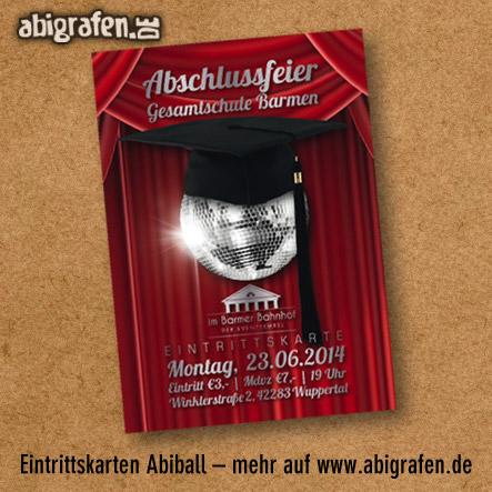abigrafen.de Referenzprojekt: Abiball Eintrittskarten Layout und Druck