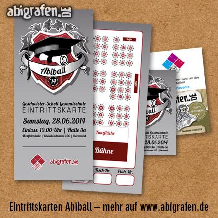 Referenzprojekt: Abiball Geschwister Scholl Gesamtschule: Design & Druck Abiball Eintrittskarten von abigrafen.de