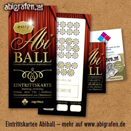 Referenzprojekt: Abiball Gisbert-von-Romberg Berufskolleg: Design & Druck Abiball Eintrittskarten von abigrafen.de