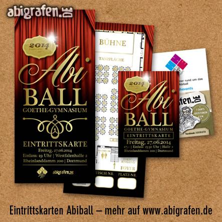 Referenzprojekt: Abiball Goethe Gymnasium Dortmund: Design & Druck Abiball Eintrittskarten von abigrafen.de
