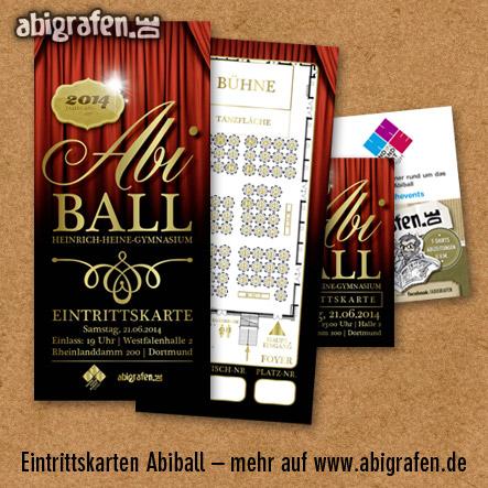 Referenzprojekt: Abiball Heinrich-Heine-Gymnasium: Design & Druck Abiball Eintrittskarten von abigrafen.de