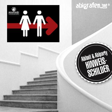 Abiball Hinweisschilder/Wegweiser für Garderobe, WC, Wertmarkenverkauf