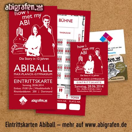 Referenzprojekt: Abiball Max-Planck-Gymnasium: Design & Druck Abiball Eintrittskarten von abigrafen.de