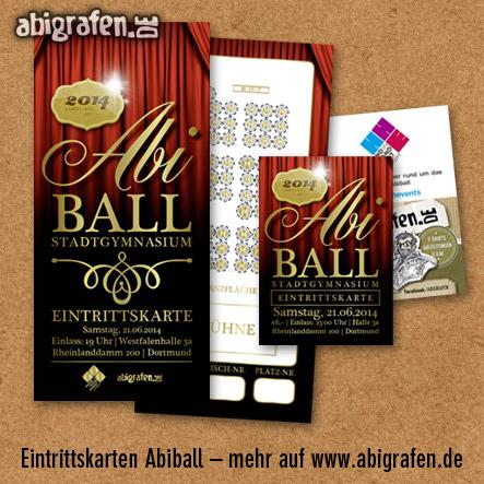 Referenzprojekt: Abiball Stadtgymnasium Dortmund: Design & Druck Abiball Eintrittskarten von abigrafen.de