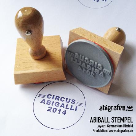 abigrafen-Referenzprojekt: Abiball Stempel für das Gymnasium Hittfeld aus Seevetal: Circus Abigalli 2014