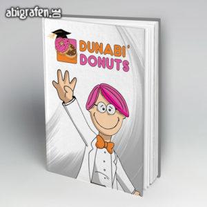 DUNABI DONUTS Abi Motto / Abibuch Cover Entwurf von abigrafen.de®
