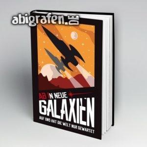 ABIn neue Galaxien Abi Motto / Abibuch Cover Entwurf von abigrafen.de®