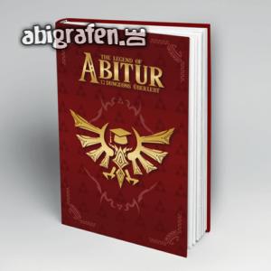 The Legend of Abitur Abi Motto / Abibuch Cover Entwurf von abigrafen.de®