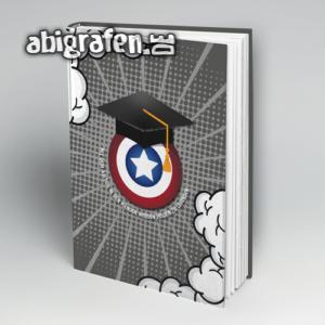 Mit dem Abi in den Händen werden Helden zu Legenden Abi Motto / Abibuch Cover Entwurf von abigrafen.de®