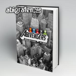 Abivengers Abi Motto / Abibuch Cover Entwurf von abigrafen.de®