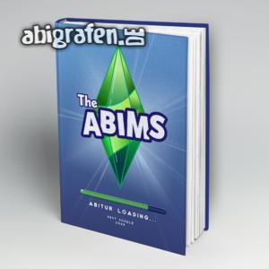 The Abims Abi Motto / Abibuch Cover Entwurf von abigrafen.de®