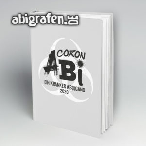CoronAbi Abi Motto / Abibuch Cover Entwurf von abigrafen.de®