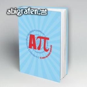 Aπ (Pi) Abi Motto / Abibuch Cover Entwurf von abigrafen.de®