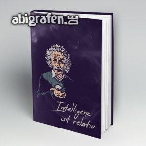 Intelligenz ist relativ Abi Motto / Abibuch Cover Entwurf von abigrafen.de®
