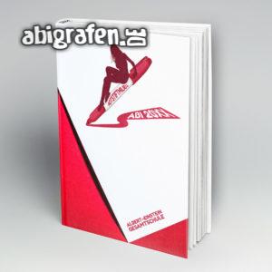 Rotstiftmilieu Abi Motto / Abibuch Cover Entwurf von abigrafen.de®