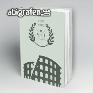 veni, vidi, abi Abi Motto / Abibuch Cover Entwurf von abigrafen.de®