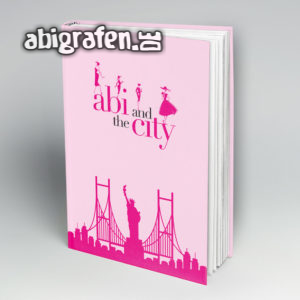Abi and the City Abi Motto / Abibuch Cover Entwurf von abigrafen.de®