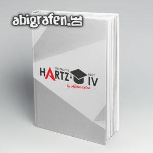 Germany's Next Hartz IV Abi Motto / Abibuch Cover Entwurf von abigrafen.de®