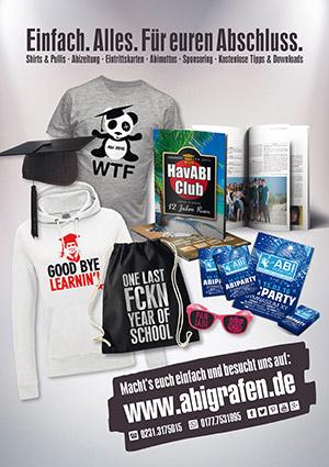Werbeanzeige Abizeitung/Abibuch (Sponsor abigrafen)