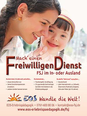 Werbeanzeige Abizeitung/Abibuch (Sponsor EOS Freiwilligendienst)