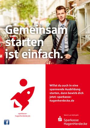 Werbeanzeige Abizeitung/Abibuch (Sponsor Sparkasse)