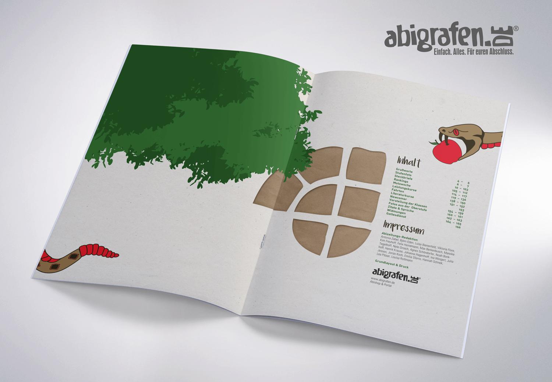 Inhaltsangabe Abizeitung/Abibuch – Layout Idee Abibaum