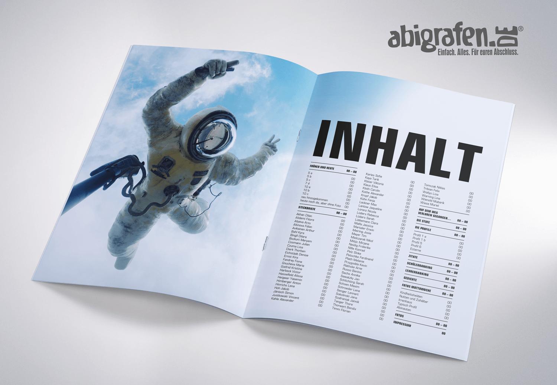 Inhaltsangabe Abizeitung/Abibuch – Layout Idee Abinuaten