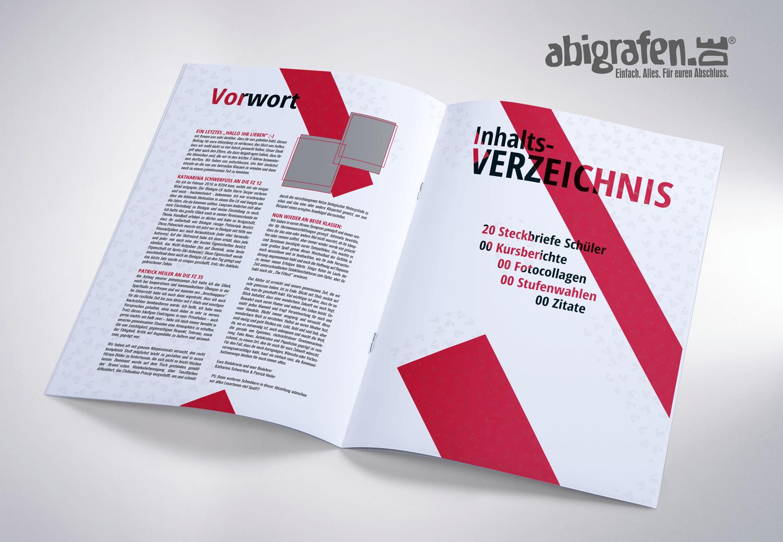 Inhaltsangabe Abizeitung/Abibuch – Layout Idee Abizeps