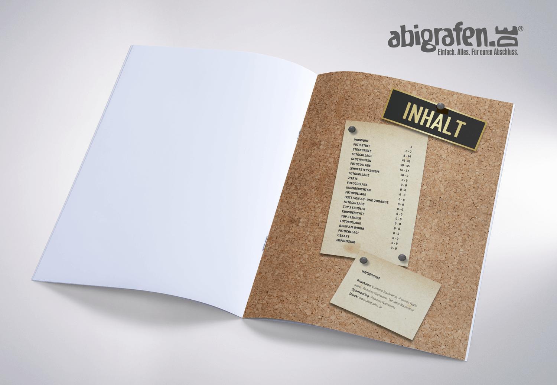 Inhaltsangabe Abizeitung/Abibuch – Layout Idee DIN Abi 4