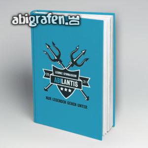 ABIlantis Abi Motto / Abibuch Cover Entwurf von abigrafen.de®