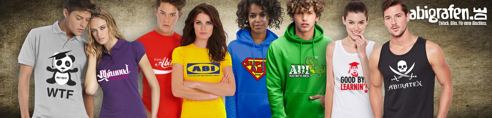 Abi Textilien: Abshirts, Hoodies, Tanktops, Sweatshirts, Pullover bedrucken