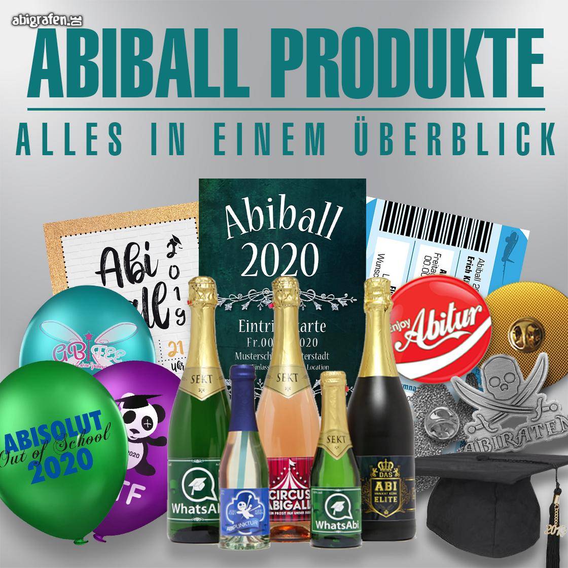 Abiball-Produkte-Übersicht