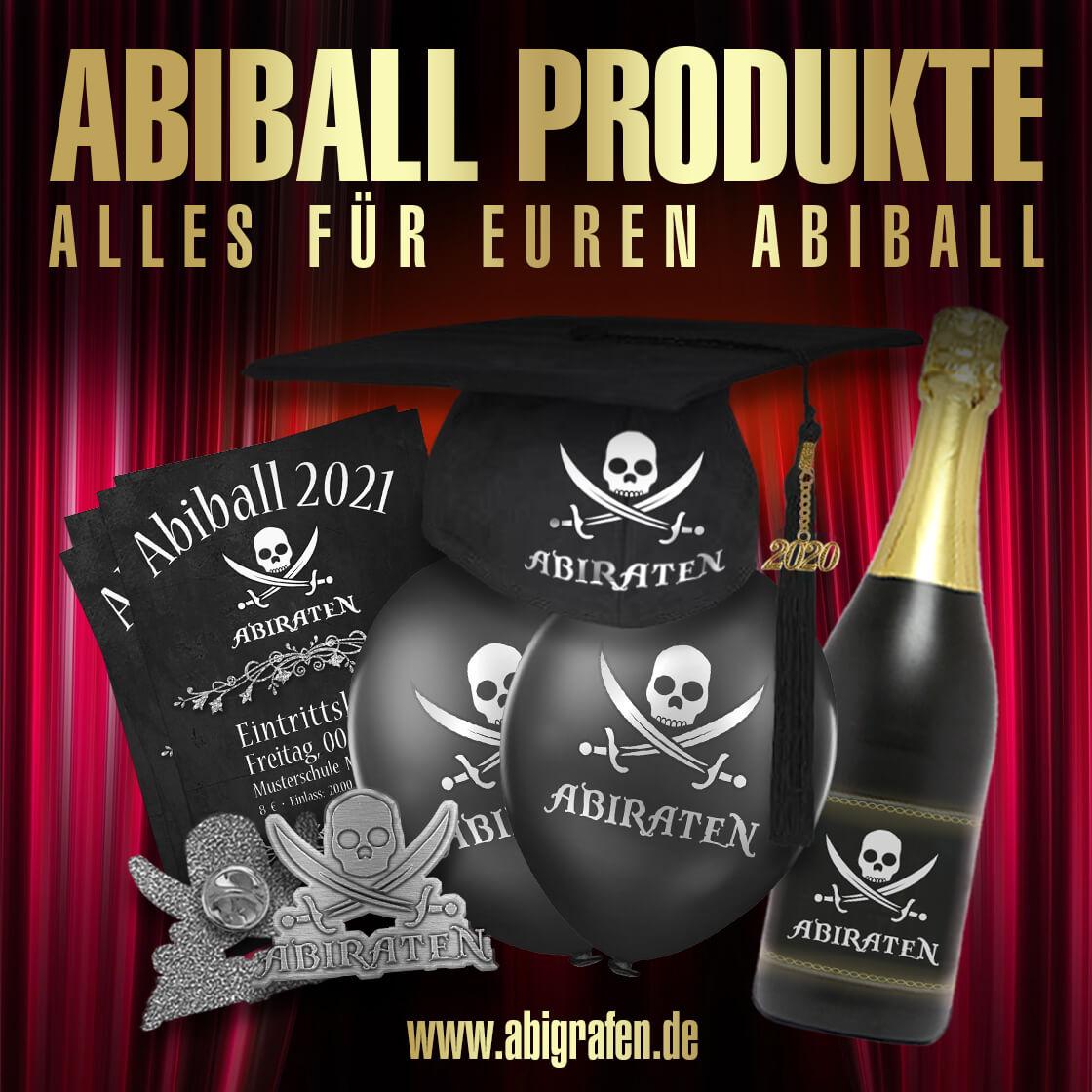 Gestaltung & Druck von Abiball-Eintrittskarten, Programmhefte, Tischkarten, Stempel, Wertmarken, Ballons, Doktorhut mit Abi Motto