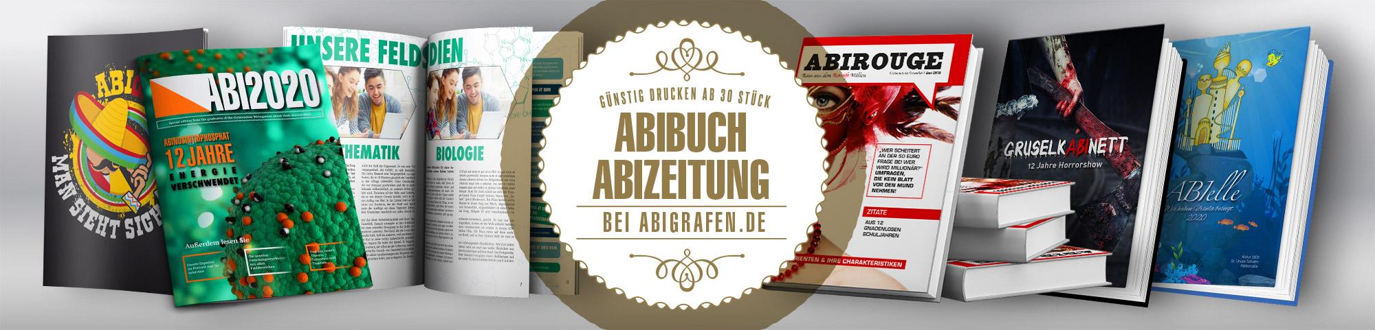 Abibücher/Abizeizungen günstig drucken mit Hardcover oder Softcover ab 30 Stück