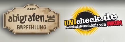 Die abigrafen.de-Empfehlung: UNIcheck.de - das Hochschulverzeichnis von UNICUM