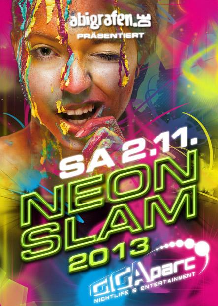 Die Schulparty GIGAparc: Neon Slam 2013 - präsentiert von den abigrafen