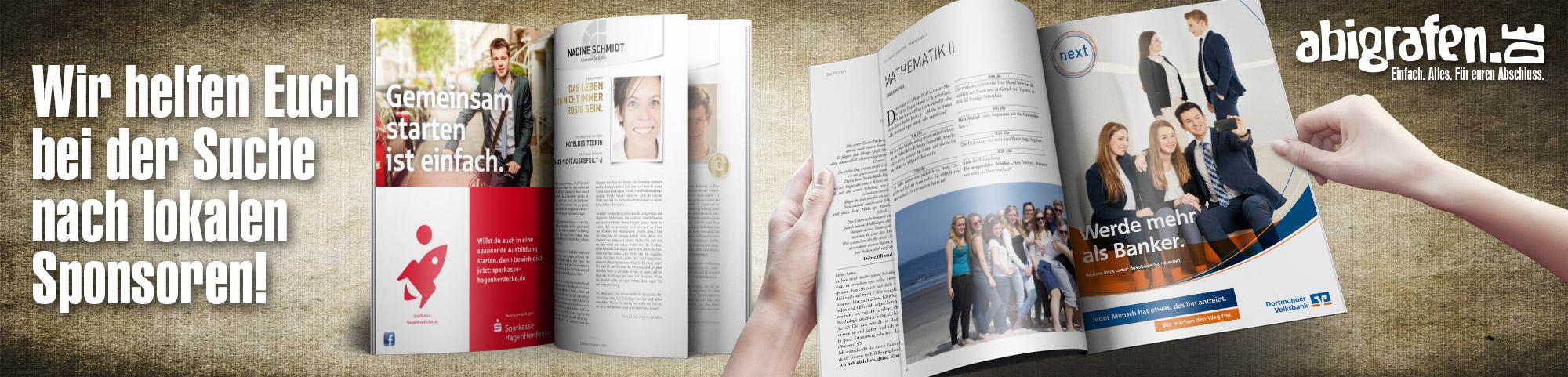 Werbeanzeigen für Abizeitungen im Umfeld (lokal)- Sponsoring abigrafen.de®
