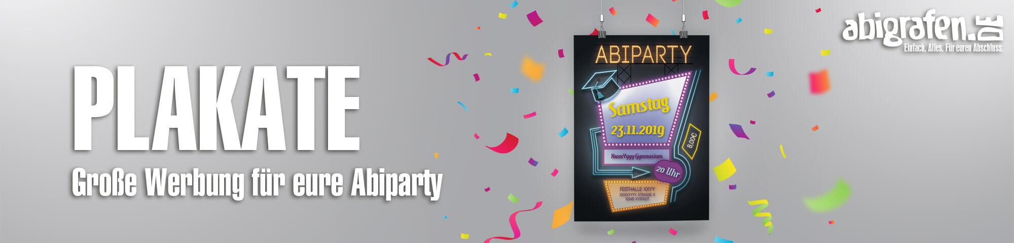 Produktinformationen, Designoptionen & Druck von Postern/Plakaten für Abiparty, Abifeier, Abschlussfete