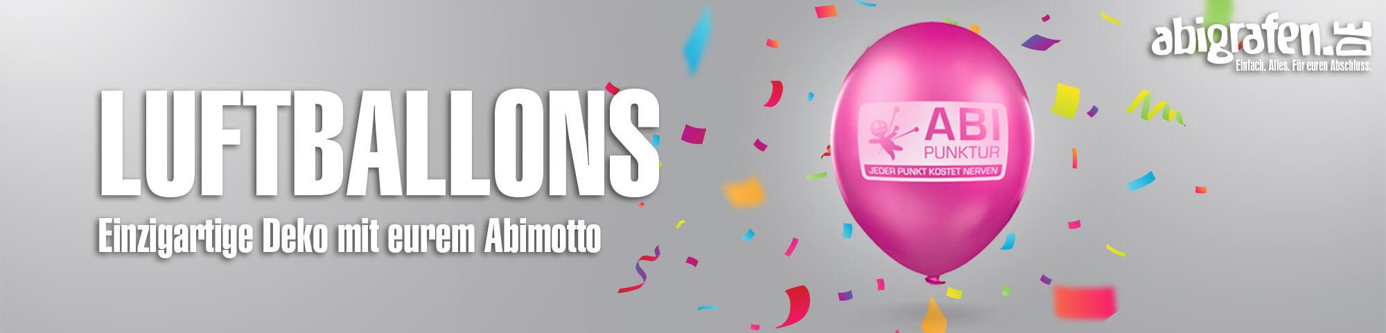 Produktinformationen, Layoutoptionen & Druck Luftballons mit Abimotto (Dekoration Abiball, Abiparty, letzter Schultag)