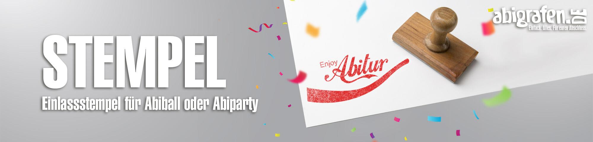 Produktinformationen, Gestaltungsoptionen & Druck Einlass-Stempel für Abiparty/Abiball
