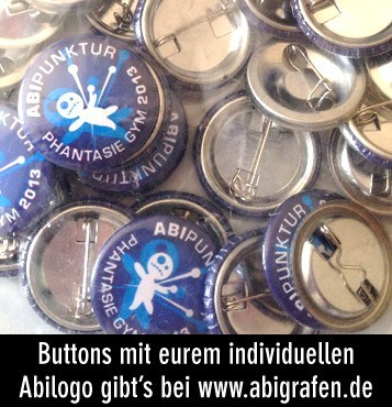 Abilogo Buttons – individuell bedruckt, auch Kleinstauflagen