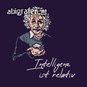 Intelligenz ist relativ Abi Motto / Abisprüche Entwurf von abigrafen.de®