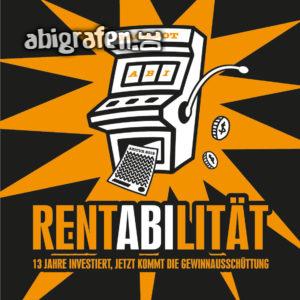 RentABIlität Abi Motto / Abisprüche Entwurf von abigrafen.de®