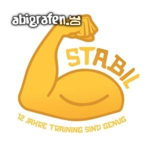 stABIl Abi Motto / Abisprüche Entwurf von abigrafen.de®