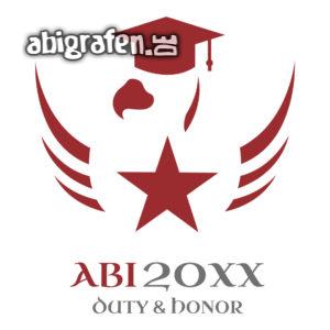 Duty & Honor Abi Motto / Abisprüche Entwurf von abigrafen.de®