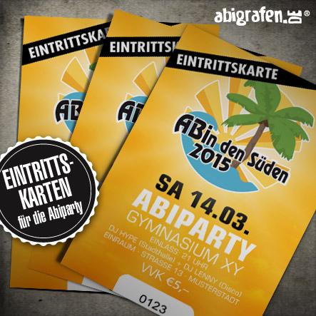 Abiparty Ausstattung: Eintrittskarten (Druck & Layout)