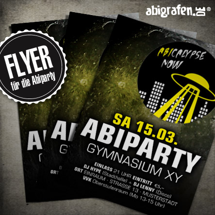 Abiparty Ausstattung: Flyer (Druck & Layout)