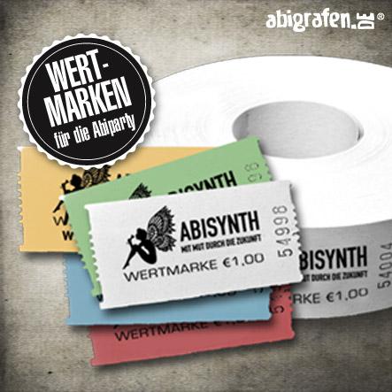 Abiparty Ausstattung: Wertmarken (Druck & Layout)