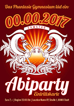 Abiparty Eintrittskarten Design